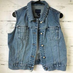 The Limited America Denim Vest Large EUC